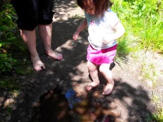Sentier pieds nus du lac Blanc