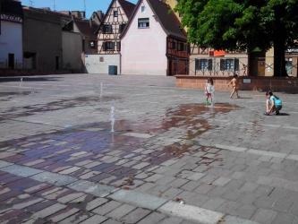 Jets d'eau du Square Albert Ehm